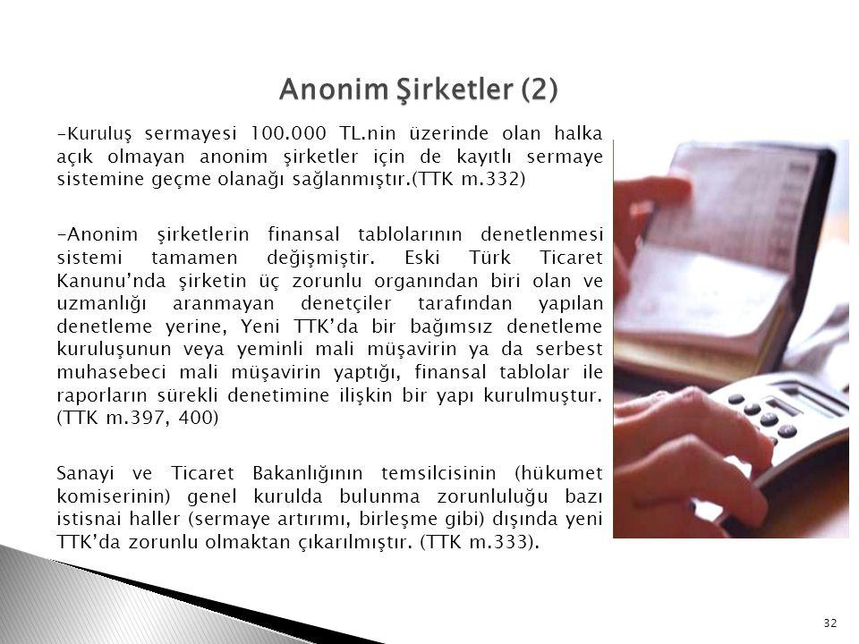 Anonim Şirketler (2)