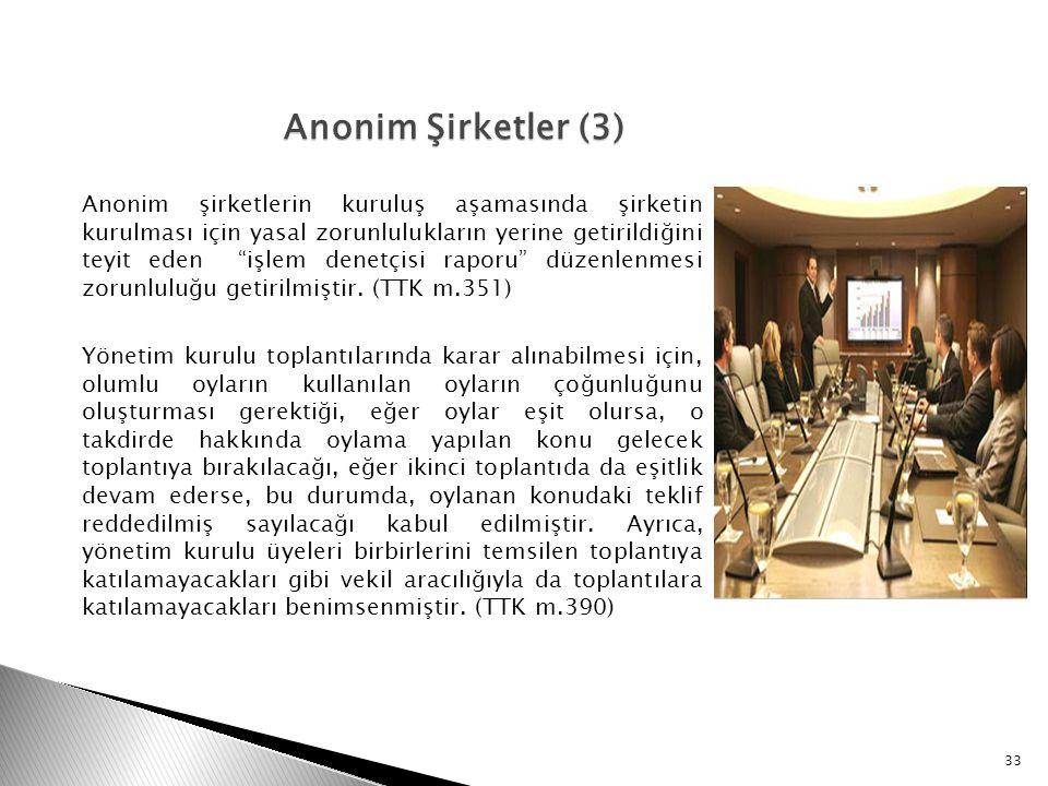 Anonim Şirketler (3)