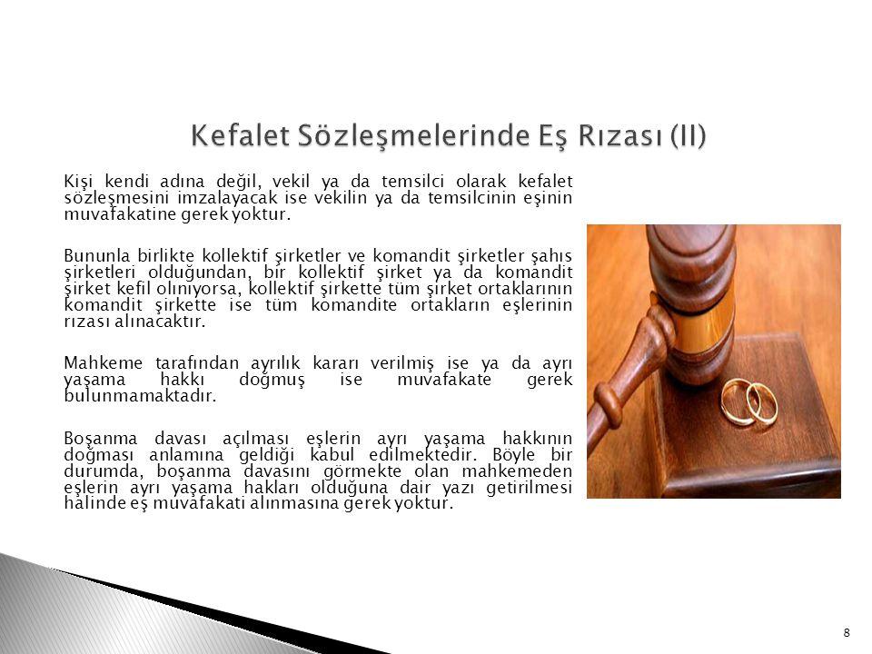 Kefalet Sözleşmelerinde Eş Rızası (II)