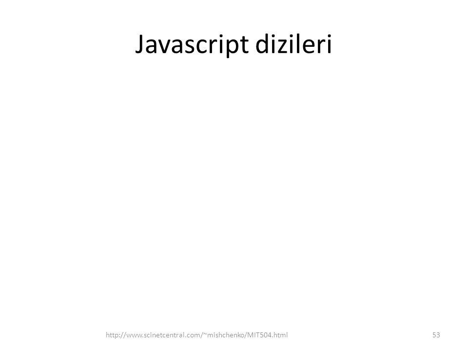 Javascript dizileri http://www.scinetcentral.com/~mishchenko/MIT504.html