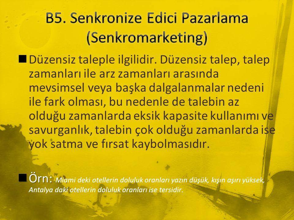 B5. Senkronize Edici Pazarlama (Senkromarketing)