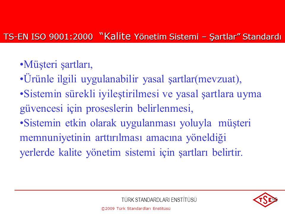 TS-EN ISO 9001:2000 Kalite Yönetim Sistemi – Şartlar Standardı