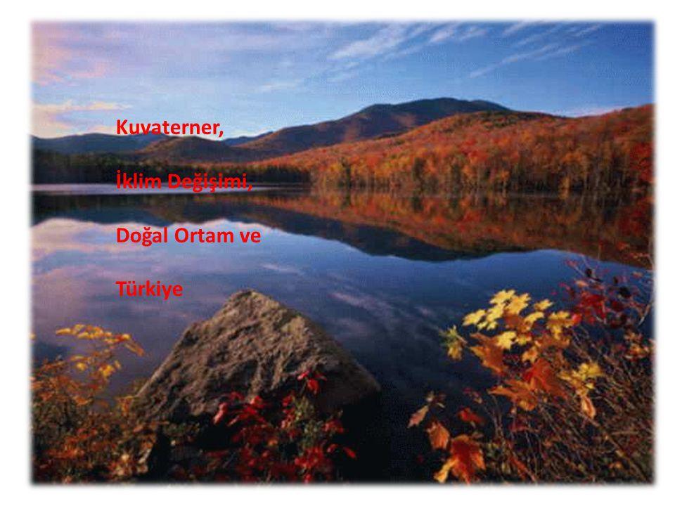 Kuvaterner, İklim Değişimi, Türkiye ve Doğal Ortam
