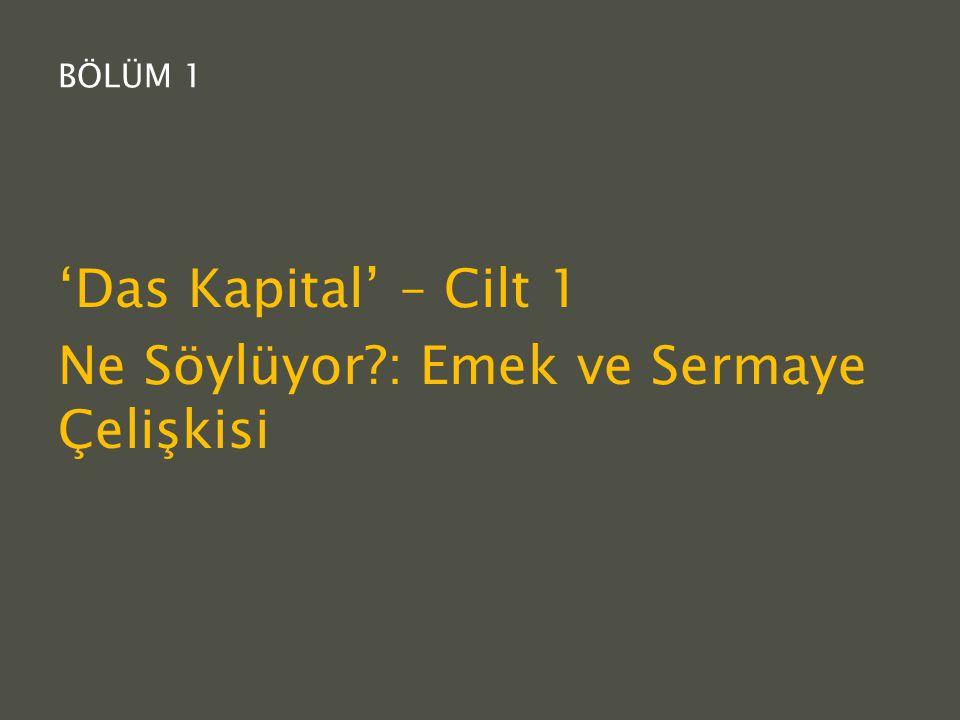 'Das Kapital' – Cilt 1 Ne Söylüyor : Emek ve Sermaye Çelişkisi
