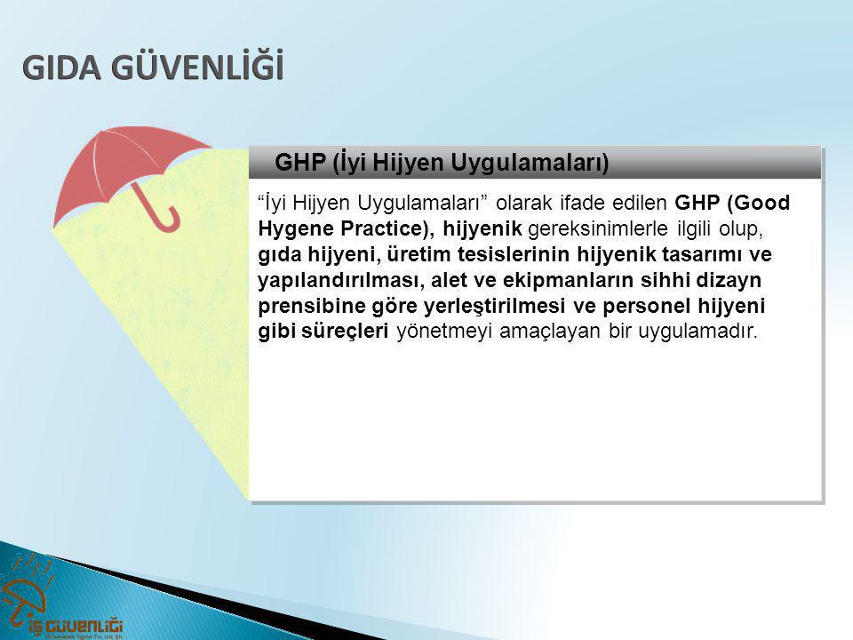 GIDA GÜVENLİĞİ GHP (İyi Hijyen Uygulamaları)
