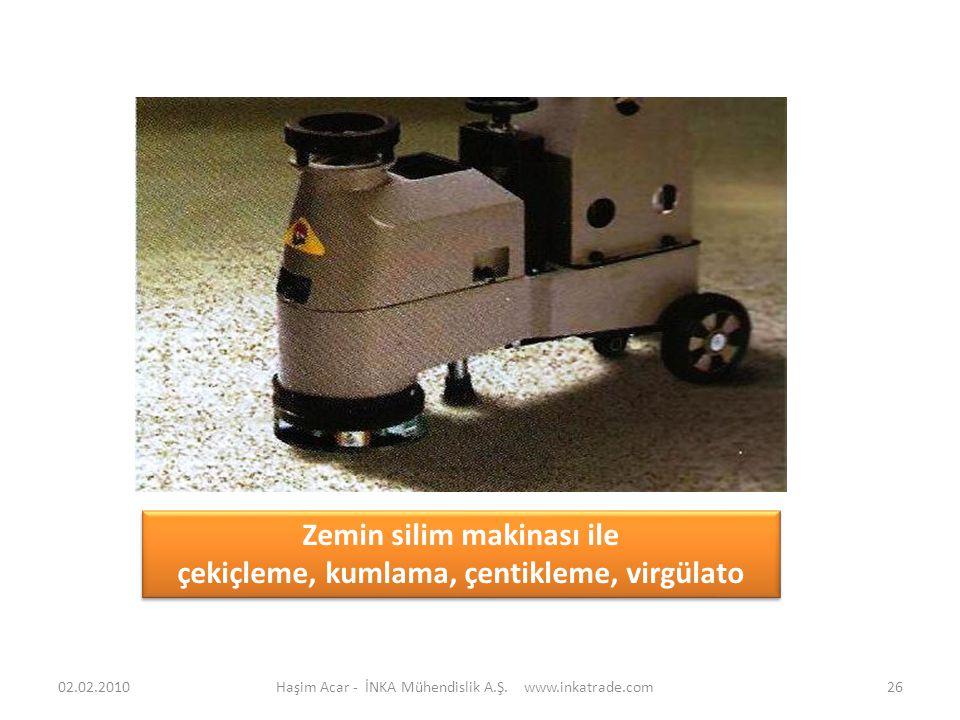 Zemin silim makinası ile çekiçleme, kumlama, çentikleme, virgülato