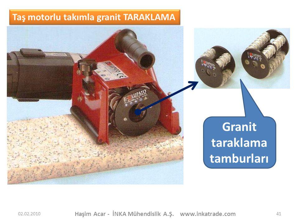 Granit taraklama tamburları