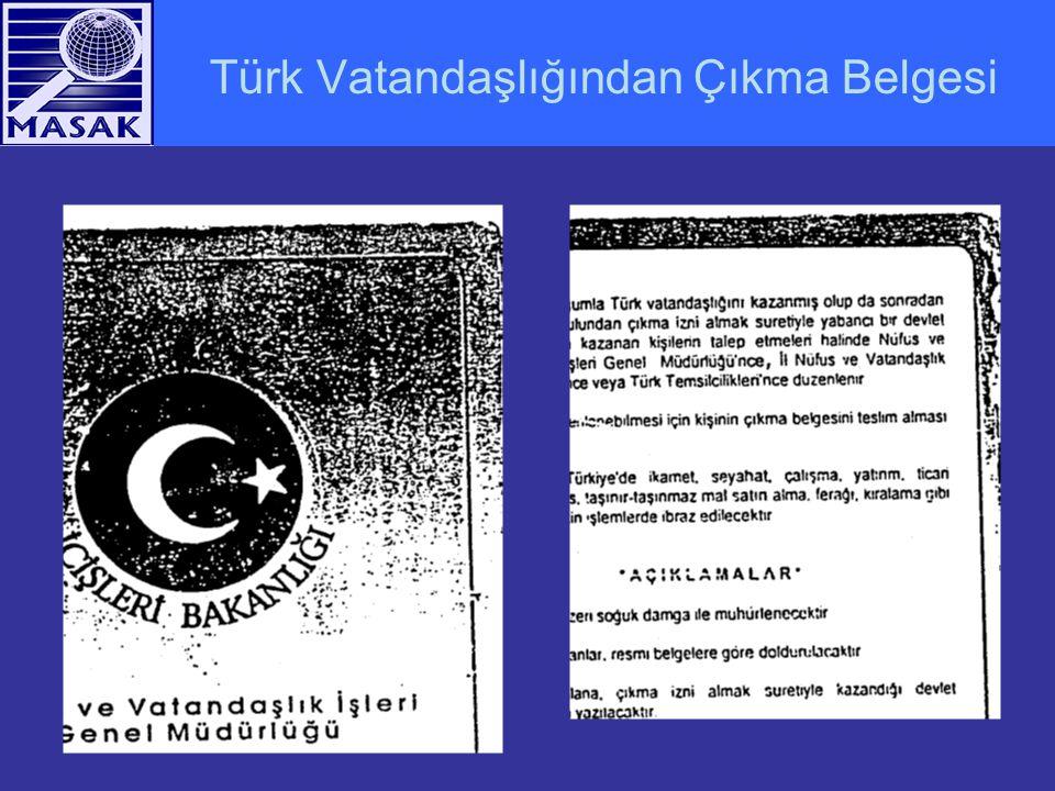 Türk Vatandaşlığından Çıkma Belgesi