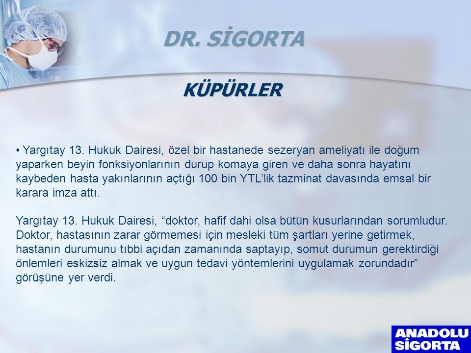 DR. SİGORTA KÜPÜRLER.