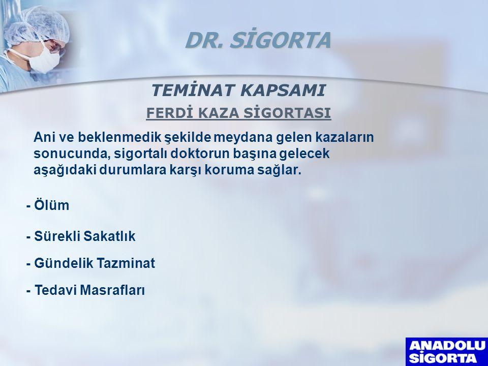 DR. SİGORTA TEMİNAT KAPSAMI FERDİ KAZA SİGORTASI