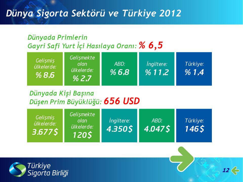 Dünya Sigorta Sektörü ve Türkiye 2012