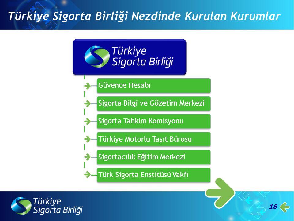 Türkiye Sigorta Birliği Nezdinde Kurulan Kurumlar