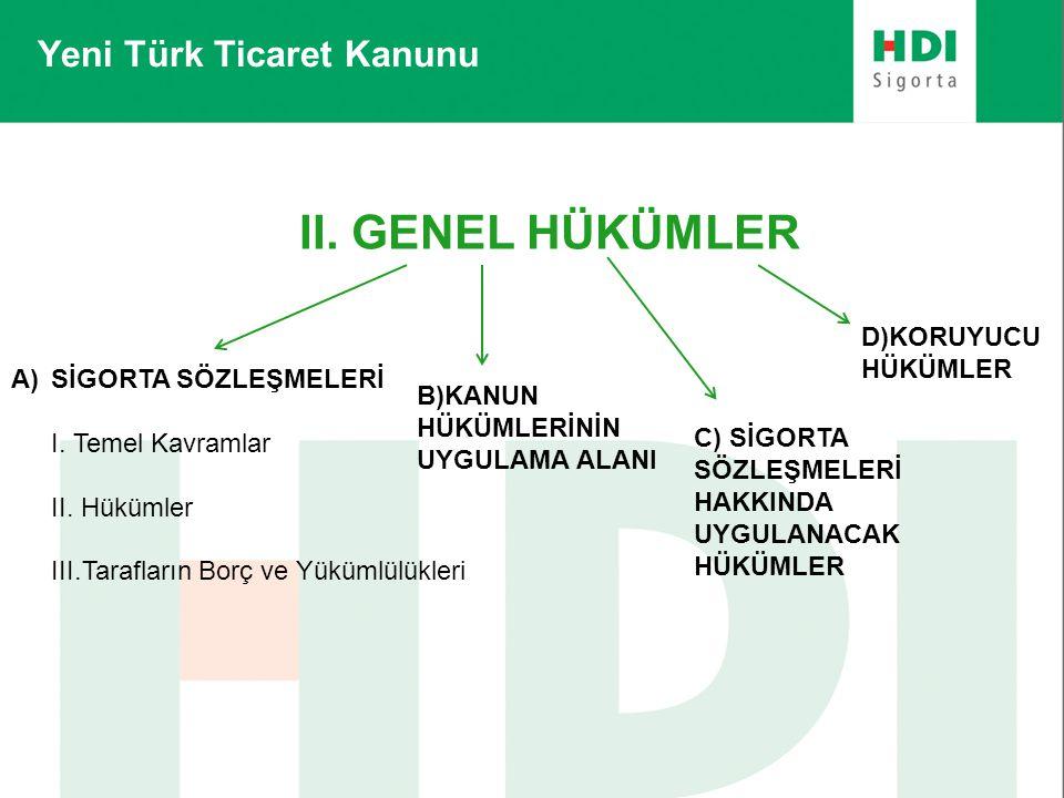 II. GENEL HÜKÜMLER Yeni Türk Ticaret Kanunu D)KORUYUCU HÜKÜMLER