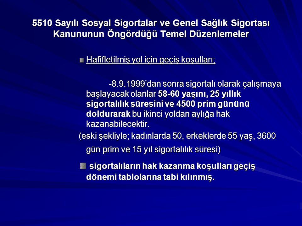 5510 Sayılı Sosyal Sigortalar ve Genel Sağlık Sigortası Kanununun Öngördüğü Temel Düzenlemeler