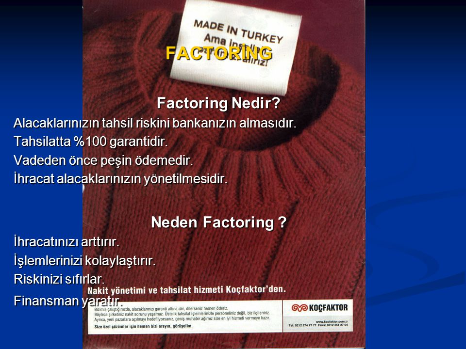 FACTORİNG Factoring Nedir Neden Factoring