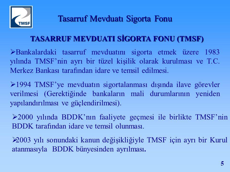 TASARRUF MEVDUATI SİGORTA FONU (TMSF)