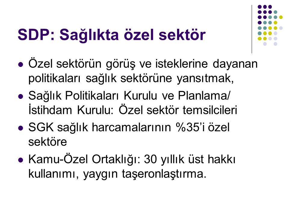 SDP: Sağlıkta özel sektör