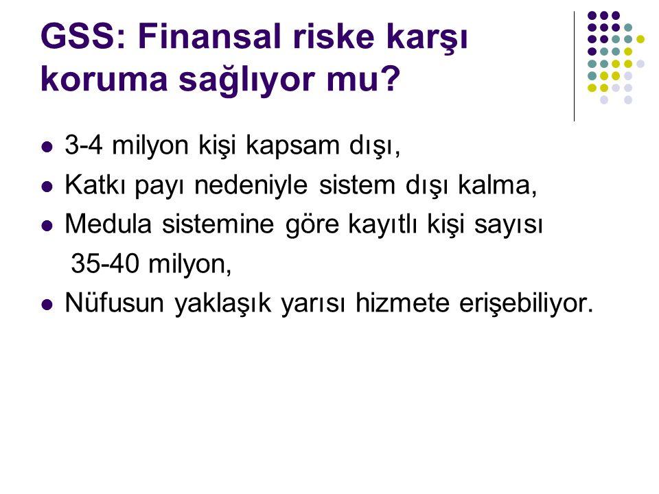 GSS: Finansal riske karşı koruma sağlıyor mu