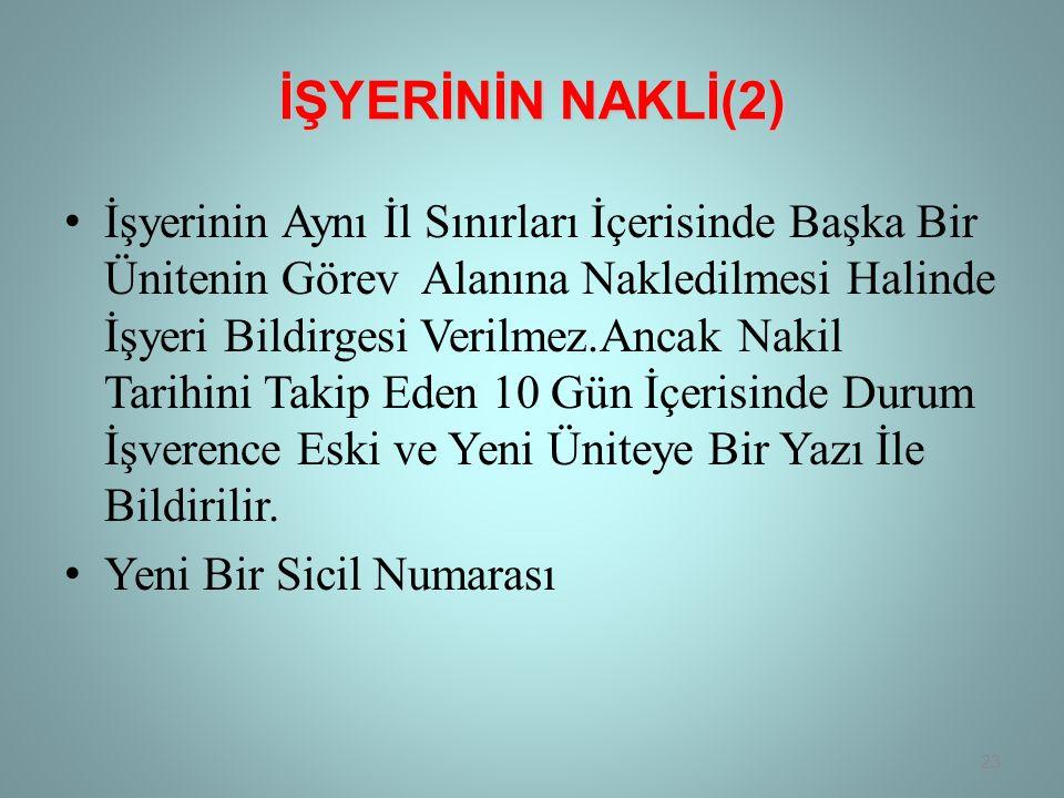 İŞYERİNİN NAKLİ(2)