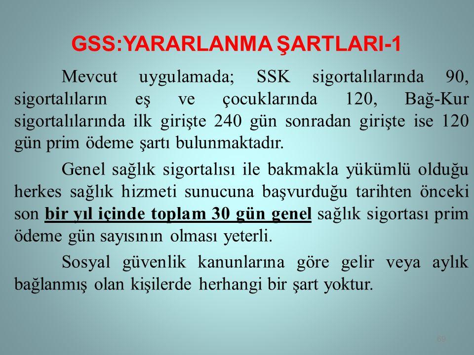 GSS:YARARLANMA ŞARTLARI-1