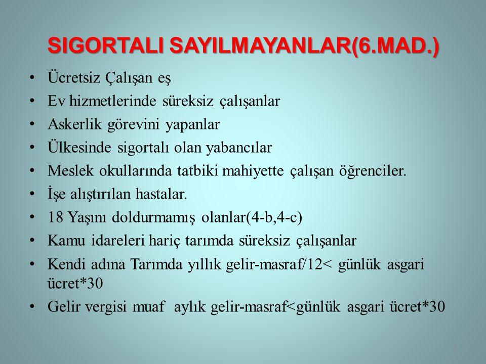 SigortalI SayIlmayanlar(6.Mad.)