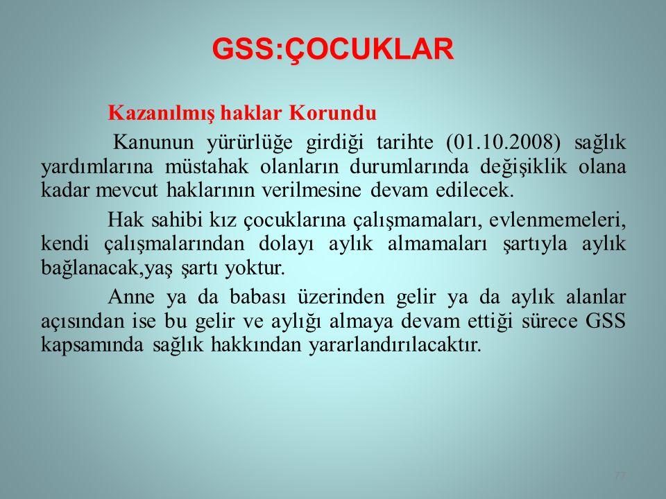 GSS:ÇOCUKLAR