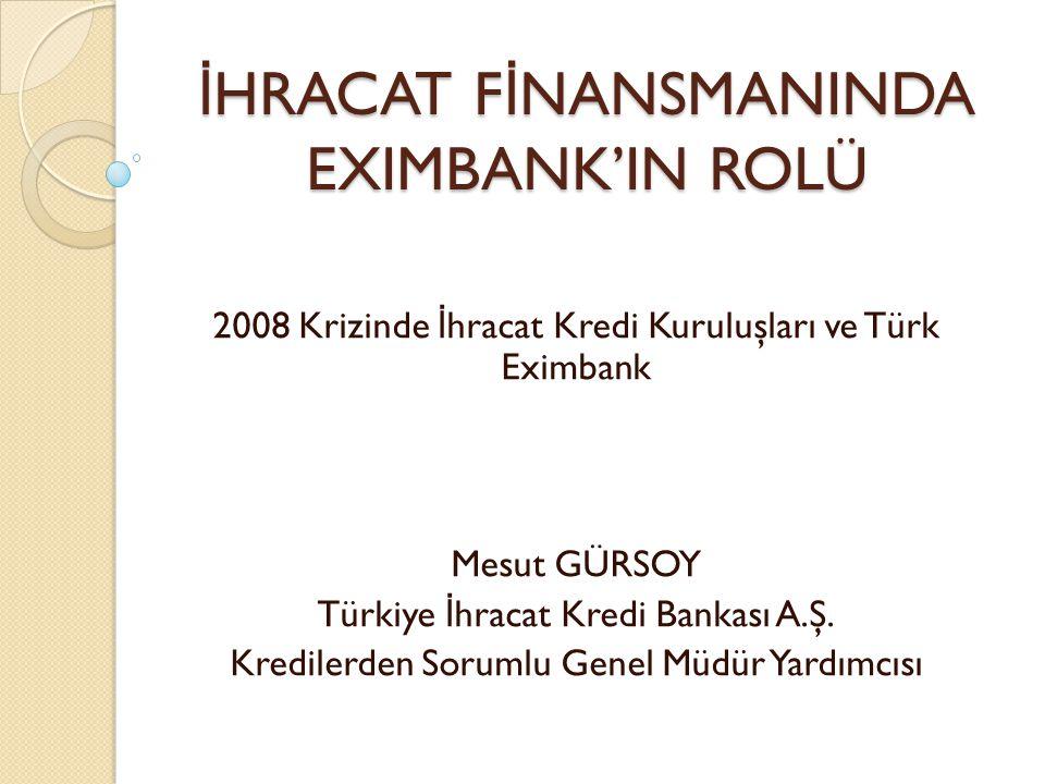 İHRACAT FİNANSMANINDA EXIMBANK'IN ROLÜ