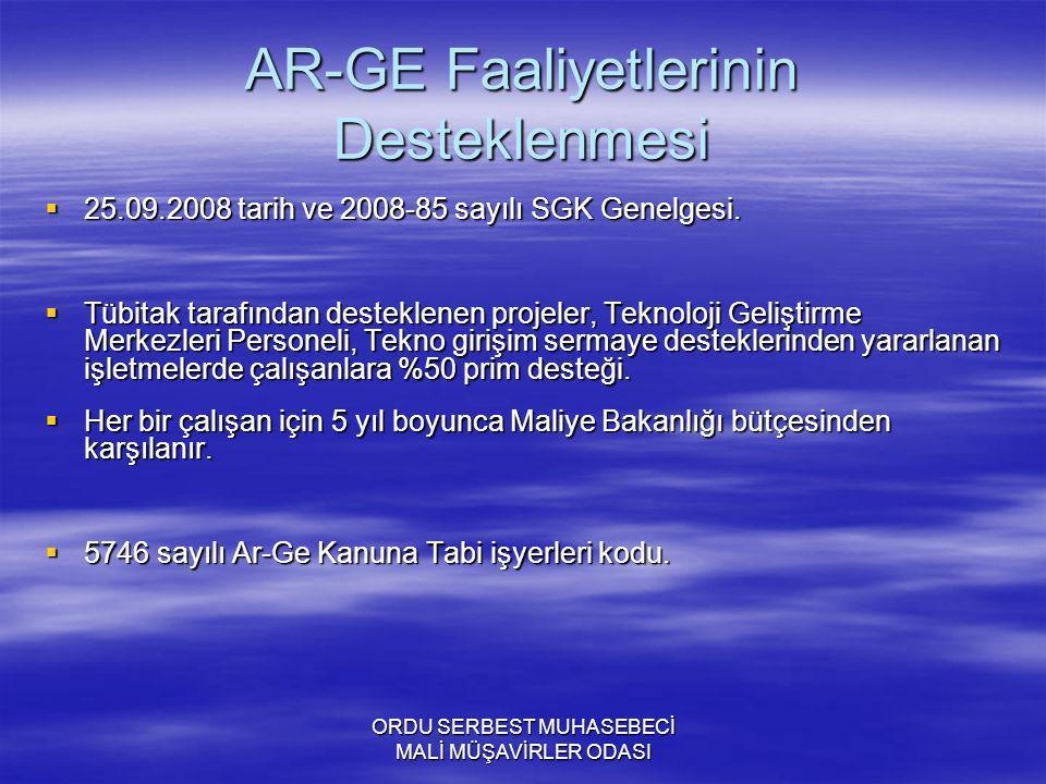 AR-GE Faaliyetlerinin Desteklenmesi