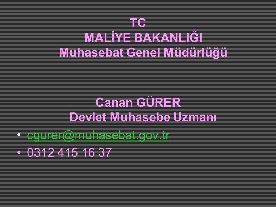 TC MALİYE BAKANLIĞI Muhasebat Genel Müdürlüğü