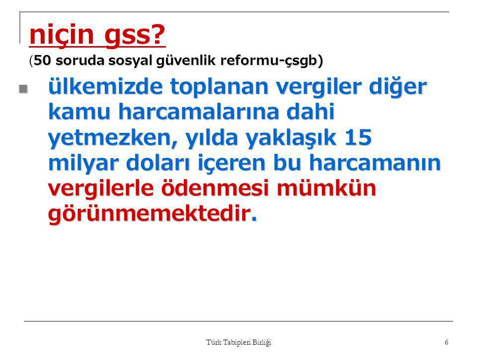 niçin gss (50 soruda sosyal güvenlik reformu-çsgb)