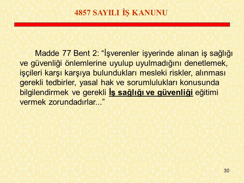4857 SAYILI İŞ KANUNU