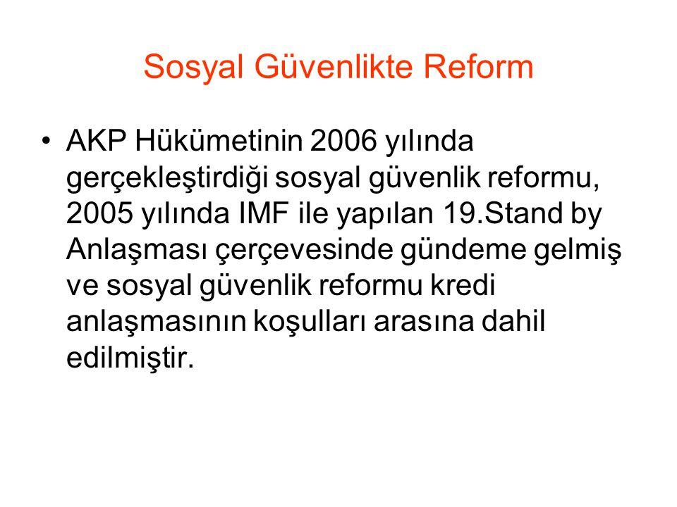 Sosyal Güvenlikte Reform