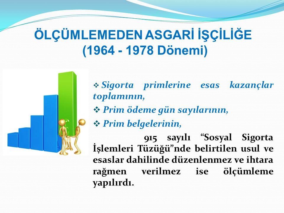 ÖLÇÜMLEMEDEN ASGARİ İŞÇİLİĞE (1964 - 1978 Dönemi)