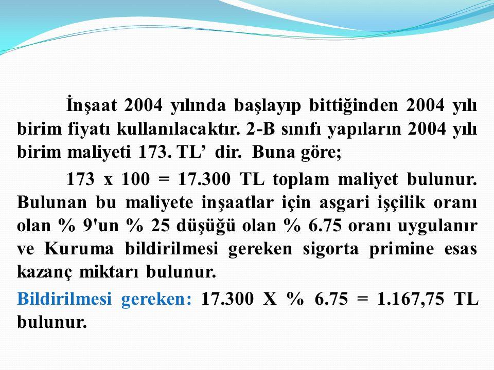 Bildirilmesi gereken: 17.300 X % 6.75 = 1.167,75 TL bulunur.