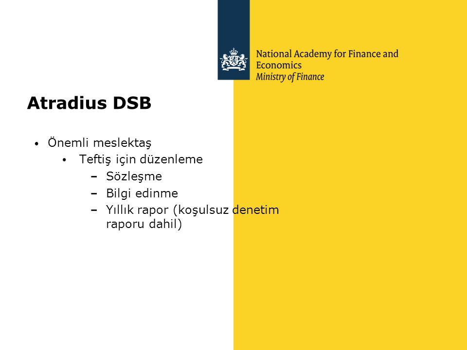 Atradius DSB Önemli meslektaş Teftiş için düzenleme Sözleşme