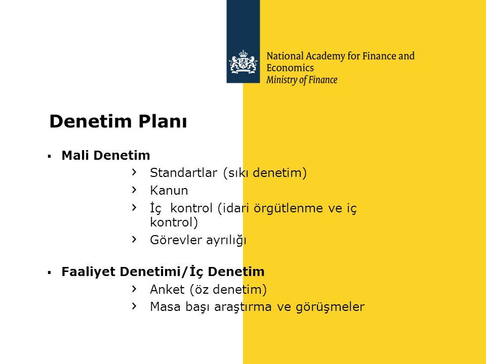 Denetim Planı Mali Denetim Standartlar (sıkı denetim) Kanun