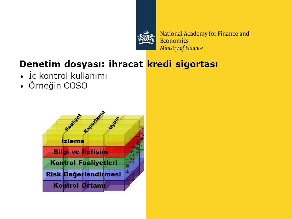 Denetim dosyası: ihracat kredi sigortası