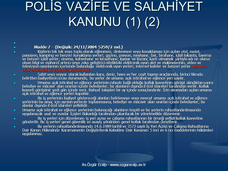 POLİS VAZİFE VE SALAHİYET KANUNU (1) (2)