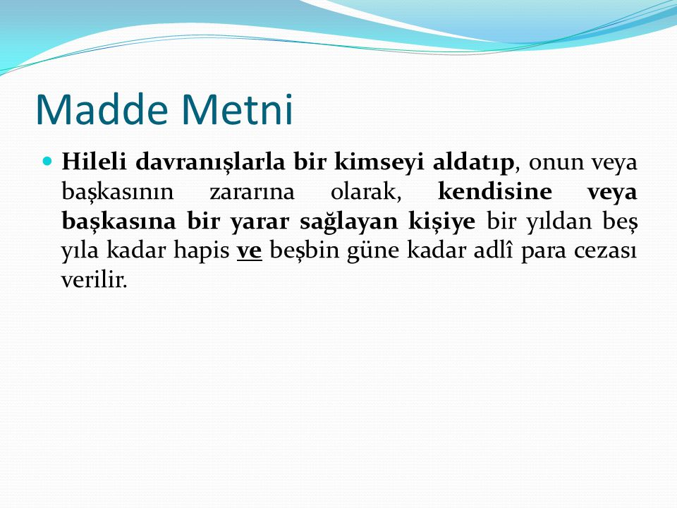Madde Metni