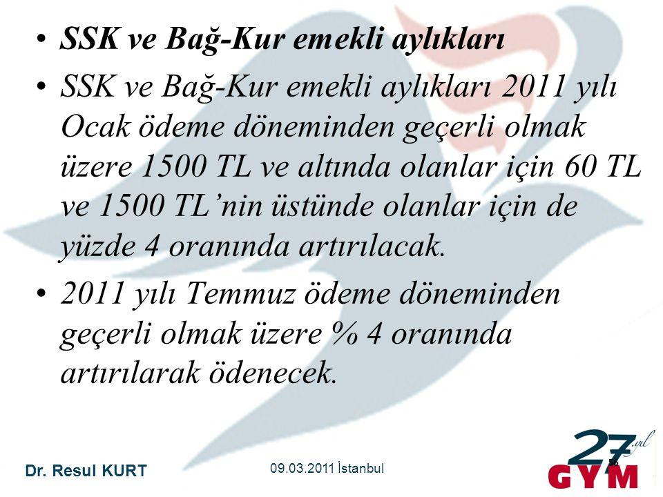 SSK ve Bağ-Kur emekli aylıkları