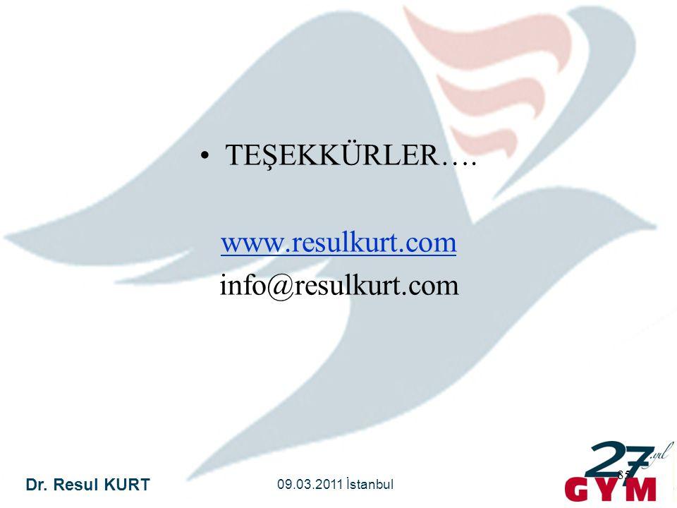 TEŞEKKÜRLER…. www.resulkurt.com info@resulkurt.com
