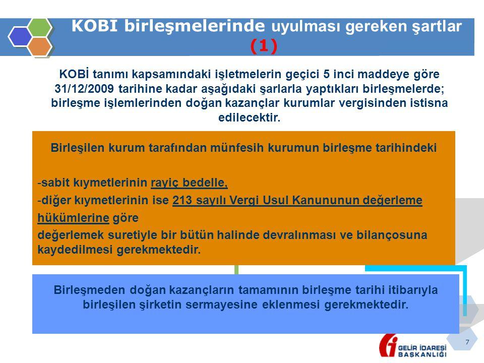 KOBİ birleşmelerinde uyulması gereken şartlar (1)