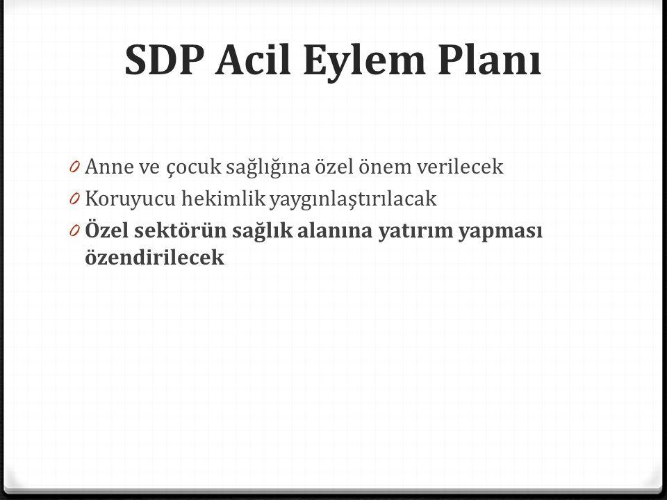 SDP Acil Eylem Planı Anne ve çocuk sağlığına özel önem verilecek