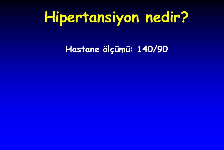 Hipertansiyon nedir Hastane ölçümü: 140/90
