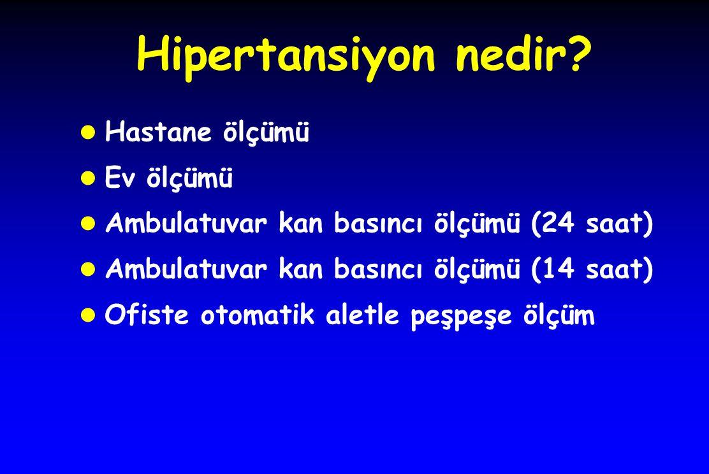 Hipertansiyon nedir Hastane ölçümü Ev ölçümü