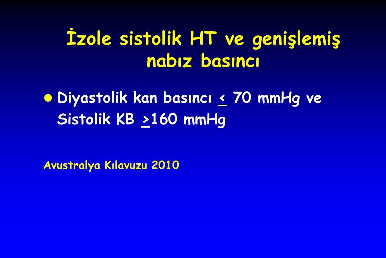 İzole sistolik HT ve genişlemiş nabız basıncı