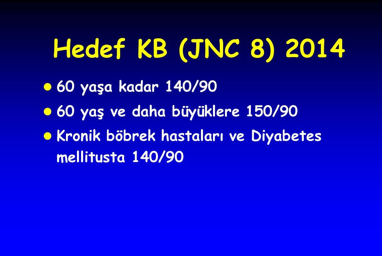 Hedef KB (JNC 8) 2014 60 yaşa kadar 140/90