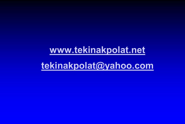 www.tekinakpolat.net tekinakpolat@yahoo.com