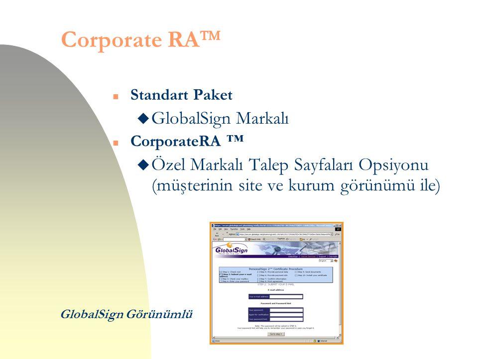 Corporate RA GlobalSign Markalı