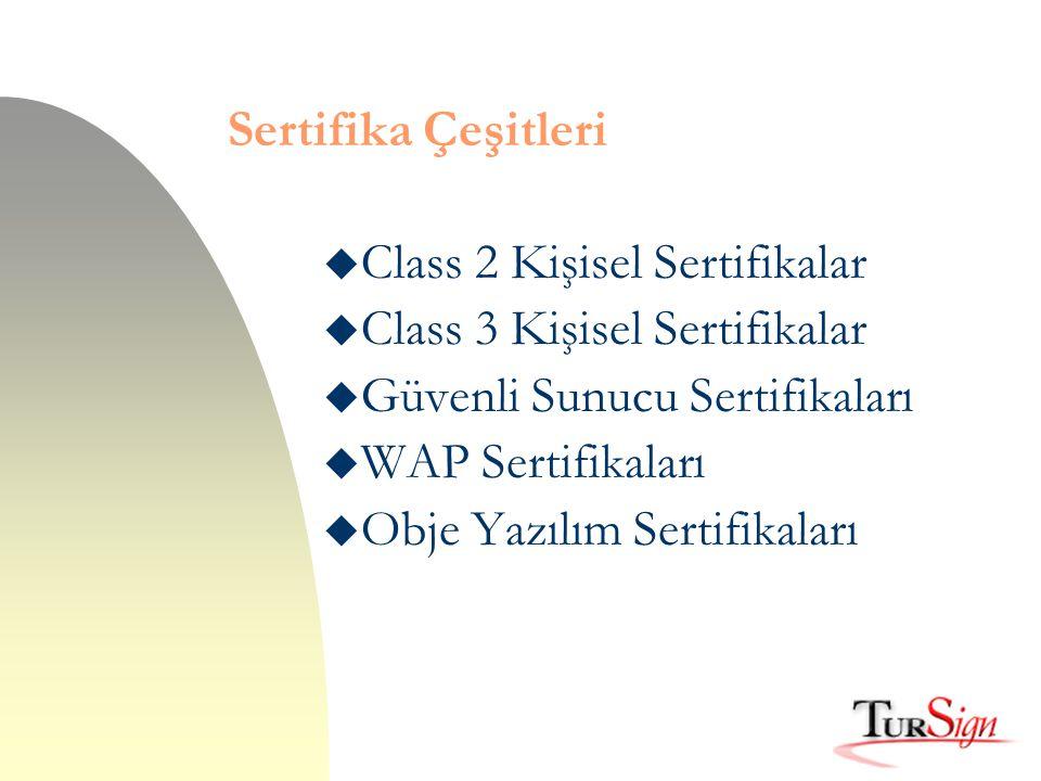 Sertifika Çeşitleri Class 2 Kişisel Sertifikalar